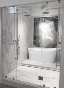 Statu+Gray,+Agata+Nero_Shower+V - Whitewater Kitchen and Bath in SLC & Utah County