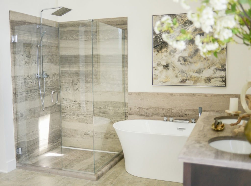 Stratus+Brown+Shower+and+Vanity - Whitewater Kitchen and Bath in SLC & Utah County