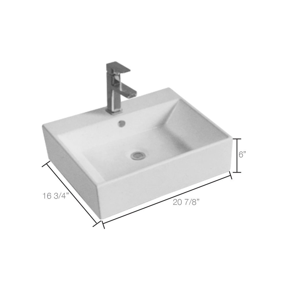 Hayward Vessel Sink Mounted Faucet Required; 3-Hole, 4 Inch Centers Only - Whitewater in SLC & Utah County - Homeowner's Guide to Kitchen and Bathroom Remodel in Utah