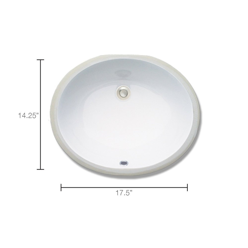 Oval Undermount Vanity Mounted Faucet Required - Whitewater in SLC & Utah County